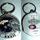 DENVER BRONCOS SUPER BOWL XXXII PEWTER KEYCHAIN  *NEW*