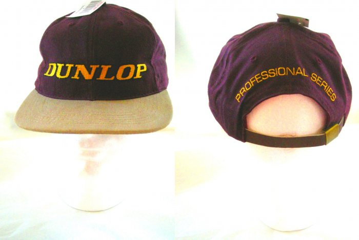 DUNLOP PRO SERIES EMBROIDERED CAP, BURGUNDY/TAN *NEW*