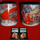 SKIER'S STONEWARE MUG **NEW IN BOX**
