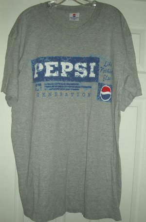PEPSI GENERATION T-SHIRT, LARGE/XL **NEW**