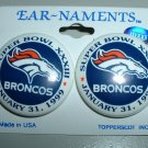DENVER BRONCOS SUPER BOWL XXXIII POST EARRINGS *NEW*