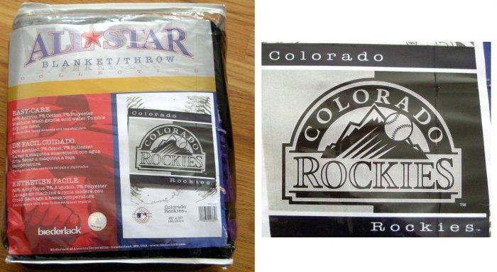 COLORADO ROCKIES MLB BLANKET/THROW 60X50 **NEW**