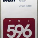 RCA VMT 596 VCR OWNER'S MANUAL **NEW**