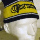CORONA EMBROIDERED KNIT CAP, NAVY & GOLD  **NEW**