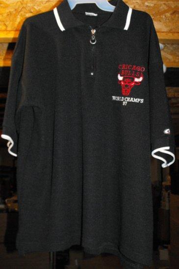 CHICAGO BULLS WORLD CHAMPS '97 PULLOVER SHIRT, XL *NEW*