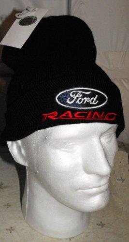 FORD RACING NASCAR KNIT CAP, BLACK **NEW**