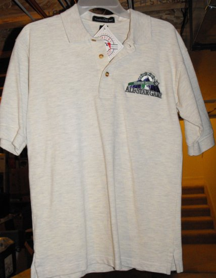 MLB ALL-STAR GAME '98 EMBROIDERED POLO SHIRT, SMALL *NEW