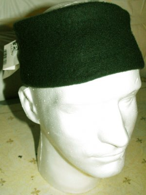 HEAD BAND FLEECE STRETCHABLE, HUNTER GREEN  **NEW**