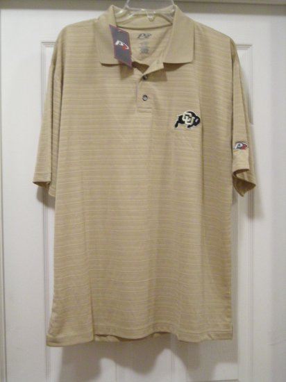 """UNIVERSITY OF COLORADO """"RIBBED LOOK"""" POLO, LARGE *NEW*"""