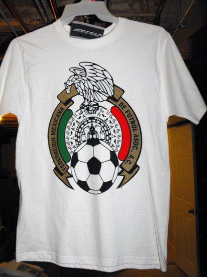 SOCCER-FEDERACION MEXICANA DE FUTBOL T-SHIRT, SM *NEW
