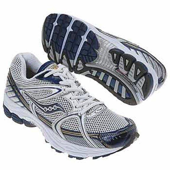 Saucony Progrid Stabil CS Men's Running Shoe Silver / Blue 20032-1, Size 10, NEW