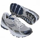Saucony Progrid Stabil CS Men's Running Shoe Silver / Blue 20032-1, Size 10, NEW