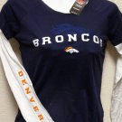DENVER BRONCOS WOMENS TISSUE-TEE, L/S, SIZE SMALL *NEW*