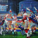 SUPER BOWL XLVI OFFICIAL PRINT by MALCOLM FARLEY, SIGNED BY NY GIANT ELI MANNING, NFL LICENSED 40X30