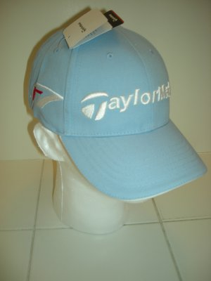 TAYLORMADE GOLF R7 BURNER EMBROIDERED BALL CAP, LIGHT BLUE *NEW