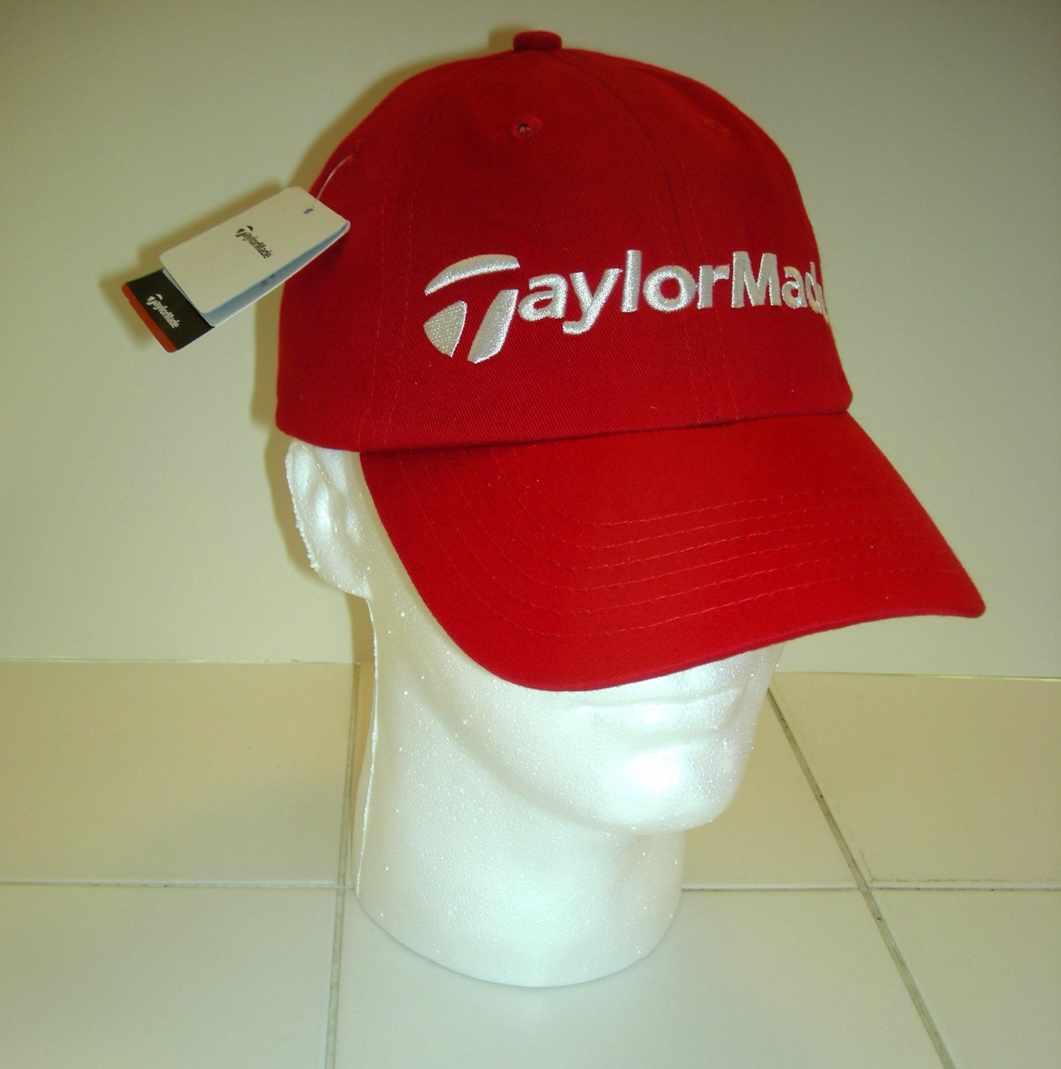 TAYLORMADE EMBROIDERED BALL CAP, RED *NEW*