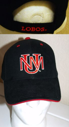 UNIVERSITY OF NEW MEXICO LOBOS EMBROIDERED BALL CAP **NEW**
