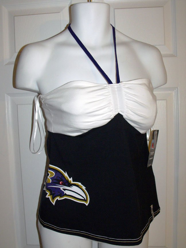 BALTIMORE RAVENS JUNIOR'S RADAR S2W NECK TIE TOP, Size Large  *NEW*