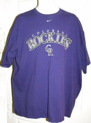 COLORADO ROCKIES MLB NIKE T-SHIRT. Size: XXL  *NEW*