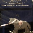 BABY'S FIRST CHRISTMAS ROCKING HORSE PEWTER ORNAMENT *NEW*