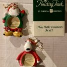 PHOTO HOLDER ORNAMENTS, SET OF 2 *NEW*