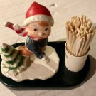 HOLIDAY TOOTHPICK HOLDER, HAND PAINTED *NEW*