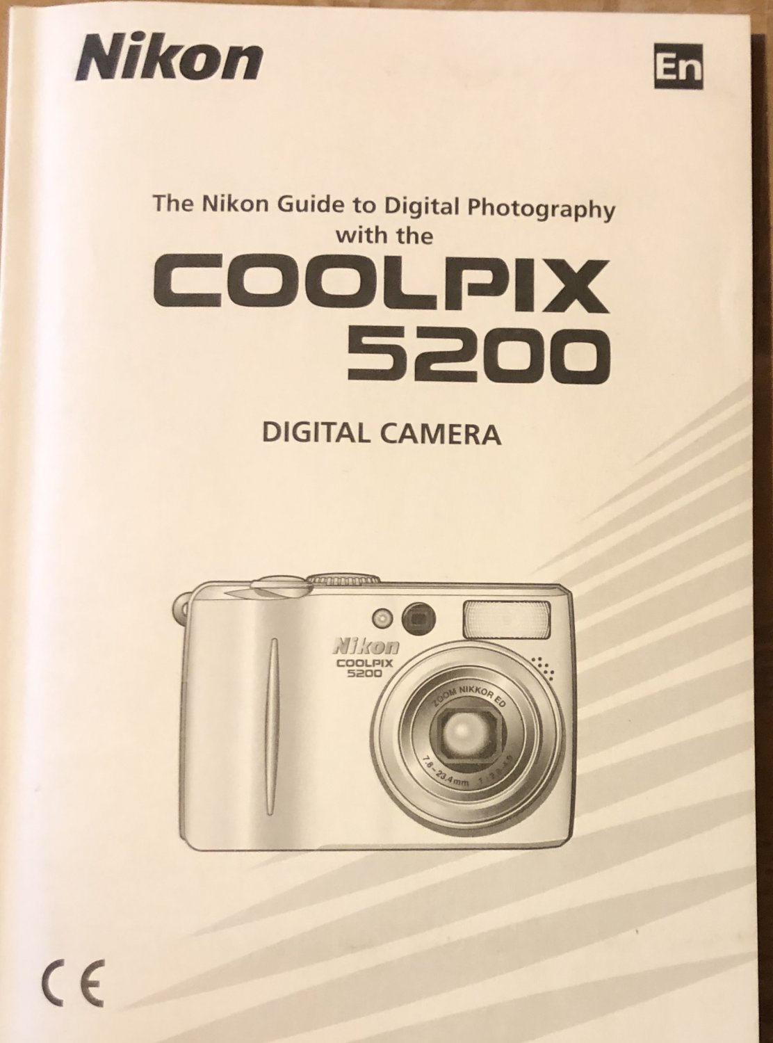NIKON COOLPIX 5200 DIGITAL CAMERA OWNER'S MANUAL BRAND *NEW