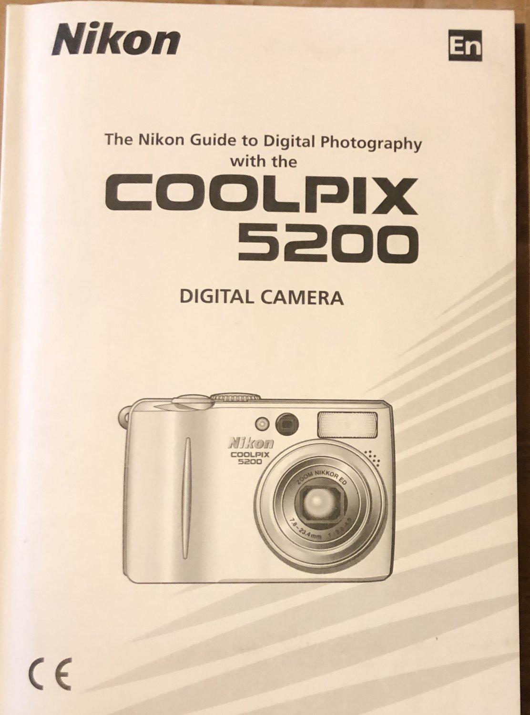 NIKON COOLPIX 5200 DIGITAL CAMERA OWNER'S MANUAL BRAND *NEW