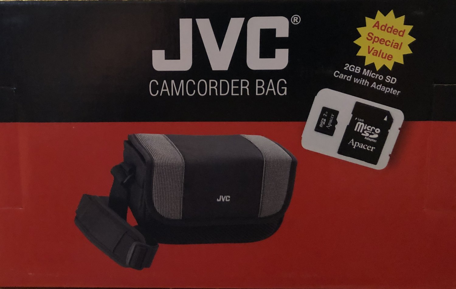 CAMCORDER BAG by JVC w/2GB Micro SD Card and Adapter
