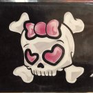 PINK GIRLIE SKULL LICENSE PLATE *NEW*