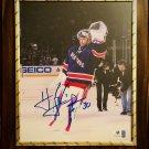 Henrik Lundqvist #30 NY Rangers Autographed Custom Photo Plaque