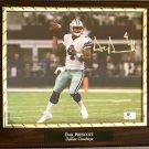 Dak Prescott #4 Dallas Cowboys Autographed Custom Photo Plaque