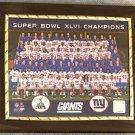 NY Giants Super Bowl XLVI Champions Custom Photo Plaque