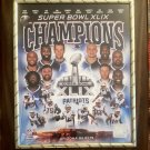 Super Bowl XLIX Champion Patriots Ltd Ed Commemorative Custom Photo Collage Plaque