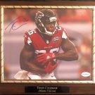 Tevin Coleman #92 Atlanta Falcons Autographed Custom Photo Plaque - Free Shipping