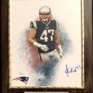 Jacob Hollister #47 New England Patriots Autographed Custom Photo Plaque