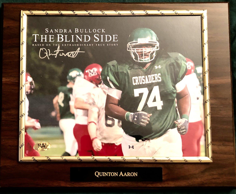 Quinton Aaron �The Blind Side� Autographed Custom Photo Plaque