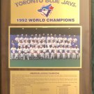 Blue Jays World Series 1992 Commemorative Plaque - NEW