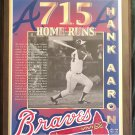 "Hank Aaron Atlanta Braves ""715 Home Runs"" Commemorative Limited Edition Plaque"