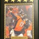Brock Osweiler #17 Denver Broncos Custom Photo Plaque - Free Shipping