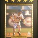 Wally Backman #6 N.Y. Mets Autographed Custom Photo Plaque - FREE Shipping