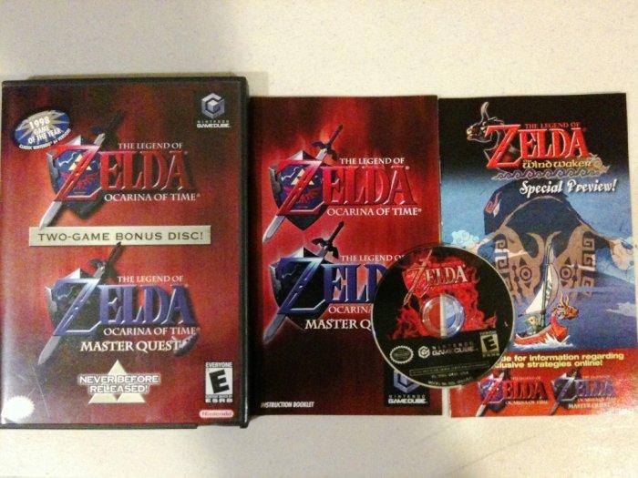GC Legend of Zelda Ocarina of Time + Master Quest Complete MINT