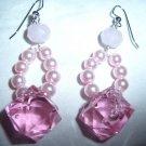 Cute Pink Ice Earrings