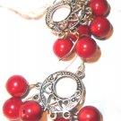 Red Gemstone Mini Chandelier Earrings