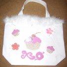 XOXO Cupcake Bag w/ Feathers