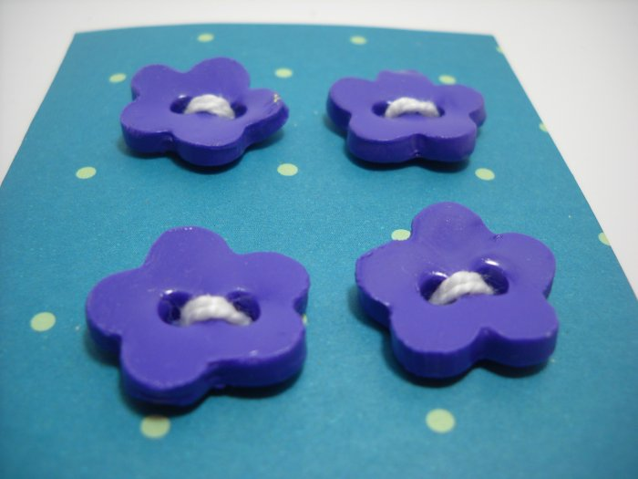 Grape Soda Flower Buttons - my lime