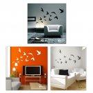 Flying Birds Set of 12 - Vinyl Wall Decal Art