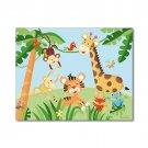 "11""x14"" ART PRINT FOR KIDS RAINFOREST JUNGLE ANIMALS"