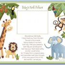 "SAFARI JUNGLE ANIMALS 8""x10"" BABY ULTRASOUND POEM PRINT"