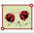 11x14 Nursery Wall Art Print for girls Ladybugs Flowers